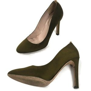 SJP Sarah Jessica Parker Olive Green Pumps Shoes